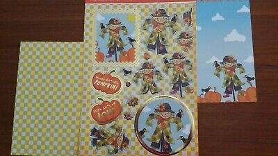 Hunkdory Kit - Patchwork Pumpkin - Die Cut Topper Sheet & 2 Backing Cards