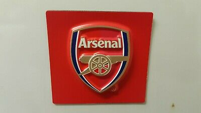 Arsenal FC Official Product Raised Relief Fridge Magnet Square Club Crest New