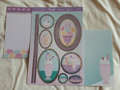 Hunkdory -  Sweet Treats - Die Cut Topper Sheet & 2 Backing Cards