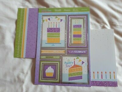 Hunkdory -  A slice of Fun! - Die Cut Topper Sheet & 2 Backing Cards