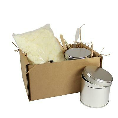 Candle Making Kit 2 Large Tins - Soy Wax Fragrance Dyes Scents & Instructions