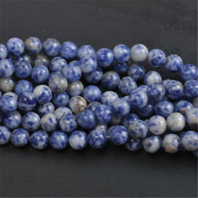 DIY Wholesale Natural Gemstone Round Charm Blue Gray Spacer Loose Beads 10MM New
