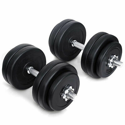 Adjustable 40KG Dumbbell Set Vinyl Dumbbells Sets Gym Weights Fitness Weight