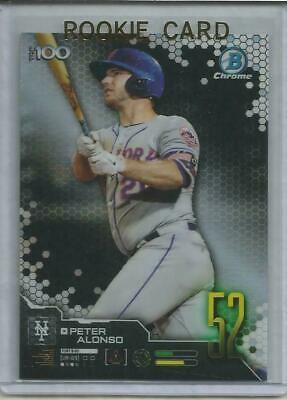 Peter Alonso 2019 Bowman Chrome Top 100 Refractor Rookie #52 Mets