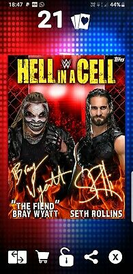 Topps WWE Slam Digital Card 244cc Seth Rollins Fiend Hiac award signature 2019
