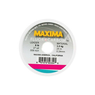27 Yards Big Game Fishing Leader Material Maxima Fluorocarbon Leader Coil