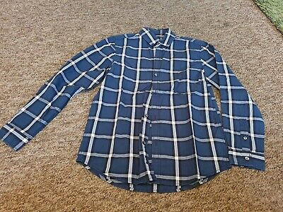 Next blue checked long sleeved shirt age 10 years
