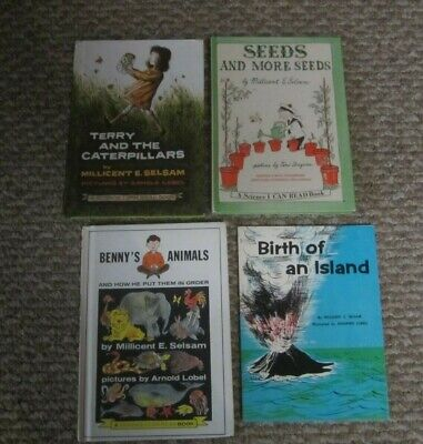 MILLICENT E. SELSAM - 4 books - TERRY AND THE CATERPILLARS.......