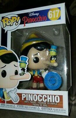 Funko Pop Pinocchio w/Jiminy on nose PIAB Exclusive 617 IN HAND!! PLUS PROTECTOR
