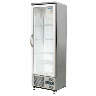 Polar Commercial Fridge Single Hinged Door Upright Back Bar Cooler