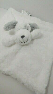 Koala Baby NWOT white gray puppy dog plush security blanket rattle soft lovey