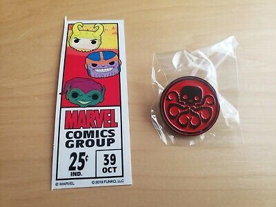Funko Pop Marvel 80 Years Red Hydra Pin And Sticker Collector Corps Exclusive