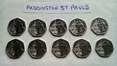 New Paddington At St Pauls Cathedral 2019 50P Coin X 10 New Uncirculated From