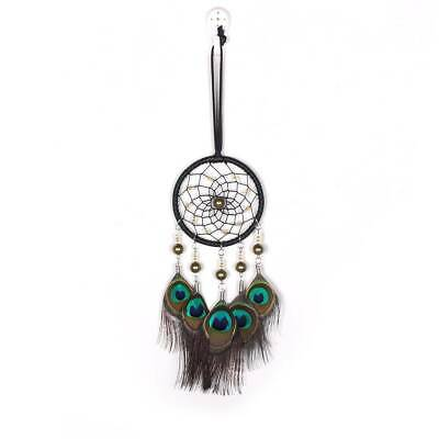 Handmade Dream Catcher Peacock Feather Bead Car Home Hanging Decoration Ornament