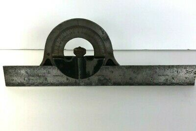 Vintage Millers Falls Combination Square Protractor Head Level