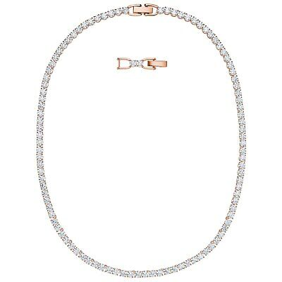 Tennis Deluxe Necklace White Rose Gold 2019 Swarovski Crystal Jewelry 5494607