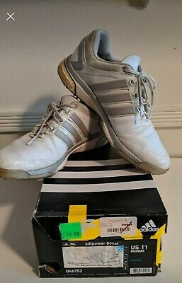 Men's AdiPower Boost Golf Shoes (white/gray) - Size 11 Q46752