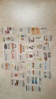 Lot of 25 Grocery Coupons FOOD only!! BIG Savings. LOOK! 2019