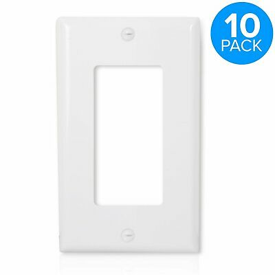 Wall Plate Outlet Cover for Decora 1 Gang Rocker Switch White 10 Pack