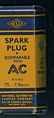 Cww2 1940'S New Old Stock Boxed Nasco/Gmh Spark Plug No Wrapper Type 75 7/8Inch