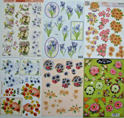 3D Cardmaking/ Decoupage A4 Sheets - Floral