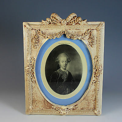 Antique Portrait Print on Silk of an 19thC Gentleman in Period Bow Top Frame