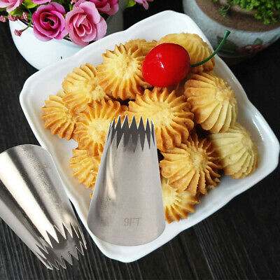Stainless Steel Cake Decorating Icing Piping Nozzles Ice Cream Tool Baking Mold