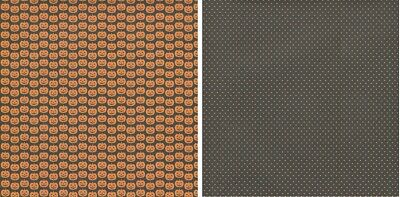 25 sheets Scrapbook Paper JACK Halloween Reminisce THC025 double sided