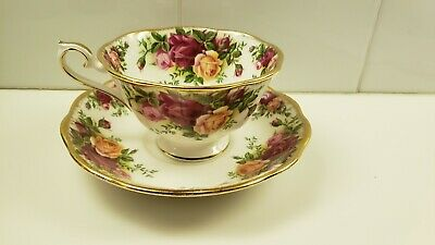 Royal Albert Old Country Roses Footed Tea Cup And Saucer Set