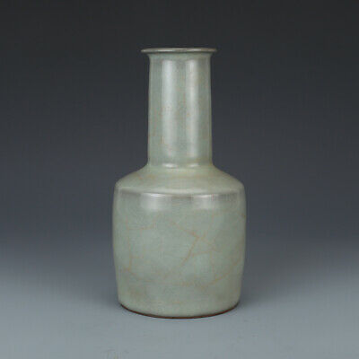 Delicate Old Chinese Song Dynasty Guanware Porcelain Two Ear Vase