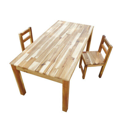 NEW Hardwood Rectangular Table and Standard Chairs - Q Toys,Kids Tables & Chairs
