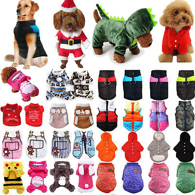 Small Cute Pet Dog Puppy Hooded Jumper Knit Sweater Clothes Coat Costume Apparel