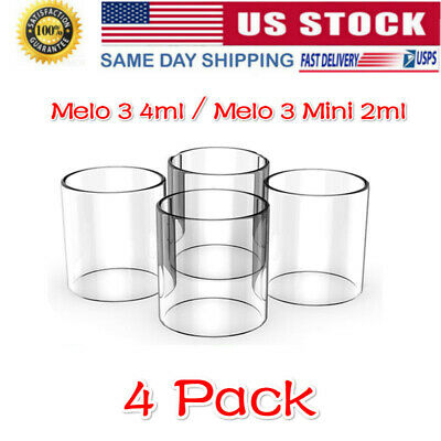 4Pack of Melo 3 4ml / Melo 3 Mini Tank 2ml Replacement Pyrex Glass Tube US STOCK