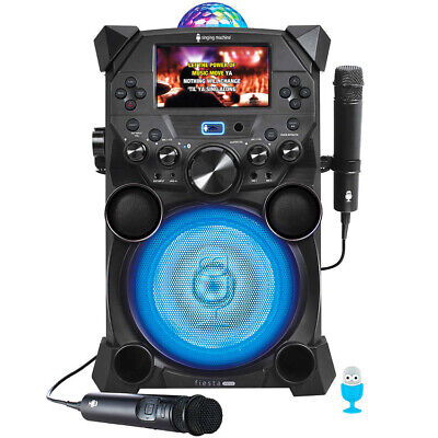 Fiesta Home Stereos Singing Machine Voice Portable Karaoke Systems (SDL9040)