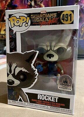 Funko POP! Marvel Disney Exclusive Guardians Mission Breakout ROCKET Raccoon