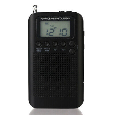 Mini Portable Rechargeable AM//FM Radio Stereo Receiver w//Headphone Lanyard H2Q5