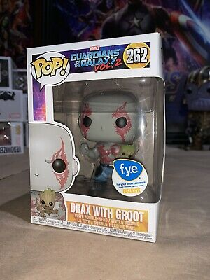 Funko POP! Marvel FYE Exclusive Guardians Of The Galaxy Vol. 2 DRAX WITH GROOT