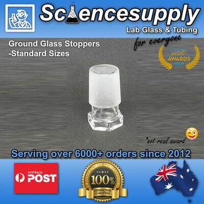Ground Glass borosilcate Stoppers Standard sizes 24/29 laboratory