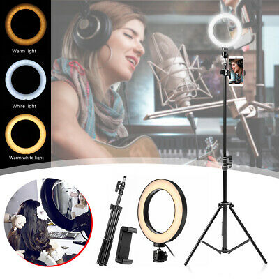 Dimmable Studio LED Ring Light with Stand Photo Video Lamp Kit For Camera Phone