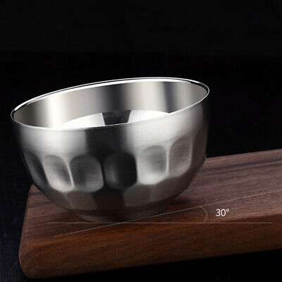 Insulated Rice Cereal Soup Bowl Double Wall Anti Falling Anti-scalding Stainless