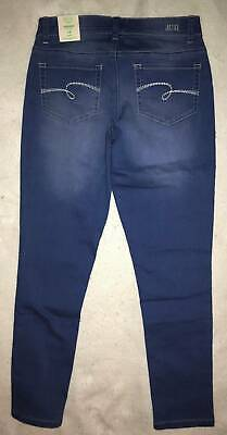 NWT Justice Girl's Classic Woven Soft & Stretchy Pull-On Blue Jeans Jeggings 14