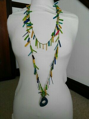 Ladies Lovely necklace Colourful Made from wood