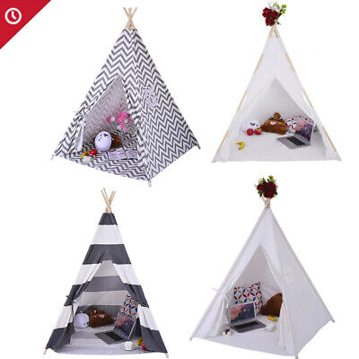 Portable Playhouse Sleeping Dome Indian Teepee Tent Children Play House Canvas