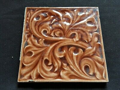 "Reclaimed Antique Single 6"" x 6"" Victorian Tile Tiling Decor (ER104)"