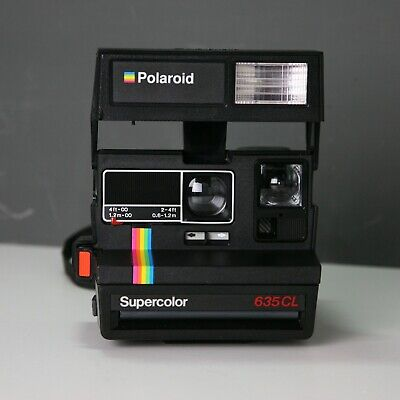 Polaroid Supercolor 635CL Vintage 600 Film Instant Camera Rainbow Stripe 635 CL