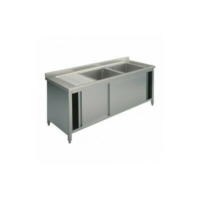 Sink Stainless Steel Closed - Tanks Right - Width 180 CM