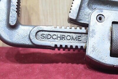 Vintage Sidchrome 14 inch Stilsons Plumbers Old Tools