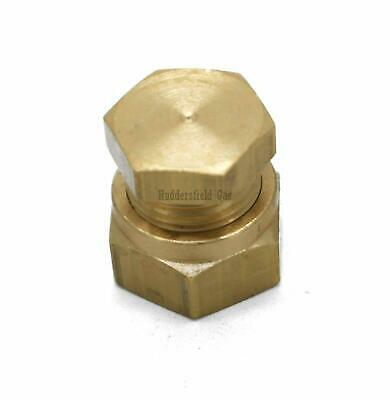 British Made 10mm Stop End Brass Compression Fitting