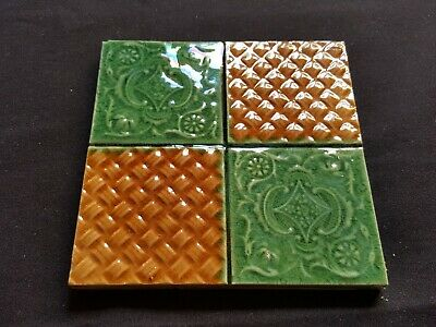 "Reclaimed Antique Single 6"" x 6"" Edwardian Tile Tiling Decor (ER101)"