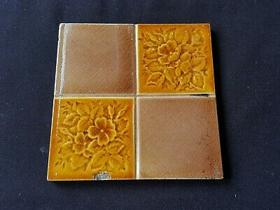 "Reclaimed Antique Single 6"" x 6"" Edwardian Tile Tiling Decor (ER92)"